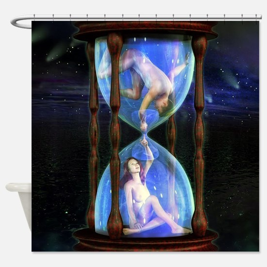 Holding on through time Shower Curtain