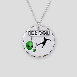 This Is Football Necklace Circle Charm