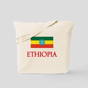 Ethiopia Flag Design Tote Bag