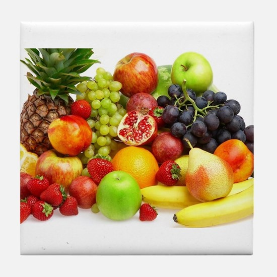 Mixed Fruits Tile Coaster
