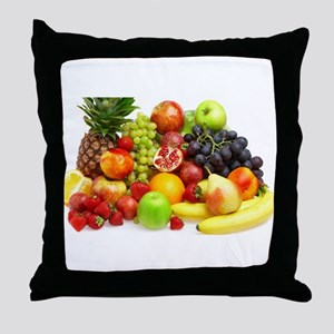 Mixed Fruits Throw Pillow