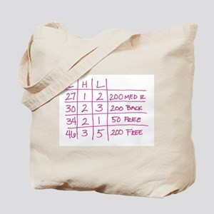 Swim Realted Items Tote Bag