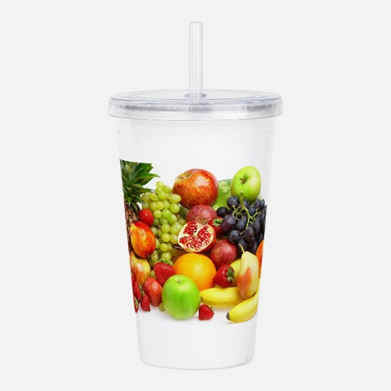 Mixed Fruits Acrylic Double-wall Tumbler