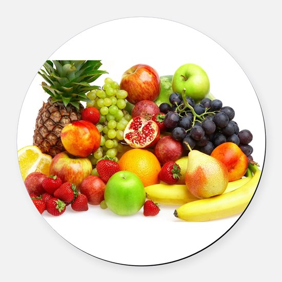 Mixed Fruits Round Car Magnet