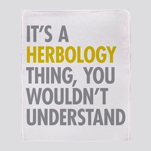 Its A Herbology Thing Throw Blanket