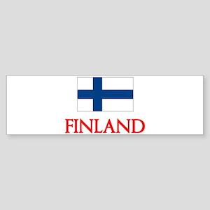 Finland Flag Design Bumper Sticker
