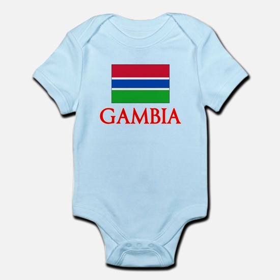 Gambia Flag Design Body Suit