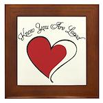 Know You Are Loved Framed Tile
