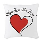 Know You Are Loved Woven Throw Pillow