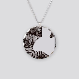Psychedelic Rabbit Shot Glas Necklace Circle Charm