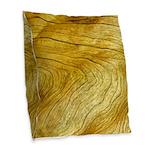 Golden Grain Burlap Throw Pillow