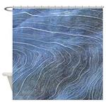 Blue Grain Shower Curtain