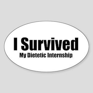 Dietetic Intern Oval Sticker