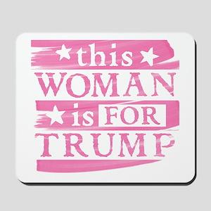 Woman for TRUMP Mousepad