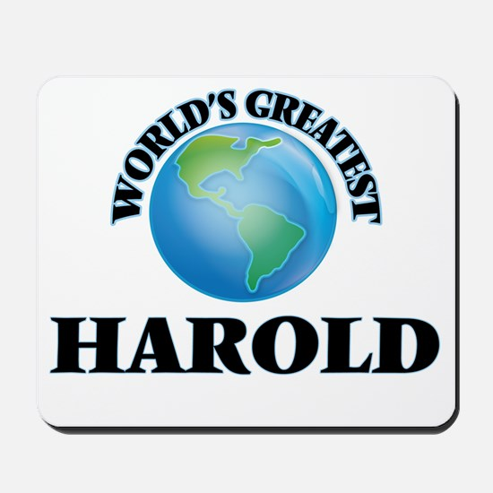 World's Greatest Harold Mousepad
