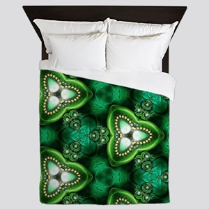 Emerald Pattern Queen Duvet