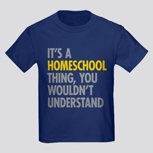 Its A Homeschool Thing Kids Dark T-Shirt