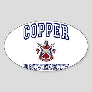 COPPER University Oval Sticker