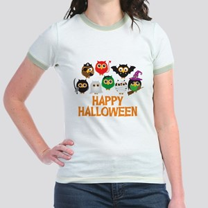 Halloween Owls in Costume T-Shirt