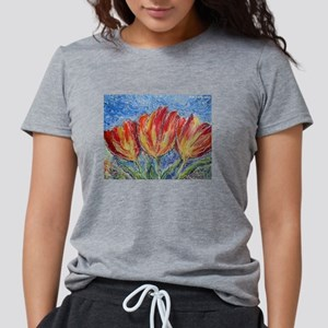 Colorful tulips, flower a Womens Tri-blend T-Shirt