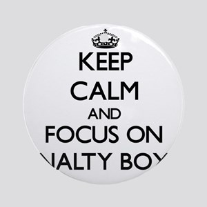Keep Calm and focus on Penalty Bo Ornament (Round)