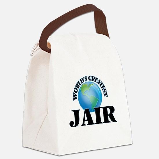World's Greatest Jair Canvas Lunch Bag