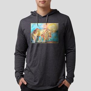 Horse! Colorful animal art! Long Sleeve T-Shirt
