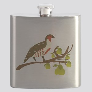 Partridge and Pear Tree Flask