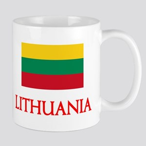 Lithuania Flag Design Mugs