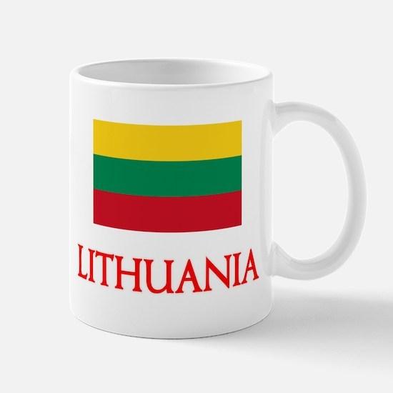 Lithuania Flag Design Mugs