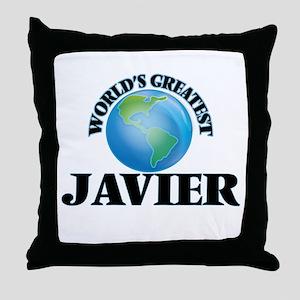 World's Greatest Javier Throw Pillow