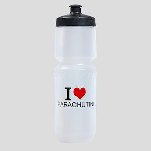 I Love Parachuting Sports Bottle