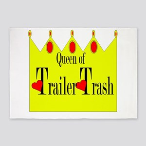 queen of trailer trash 5'x7'Area Rug