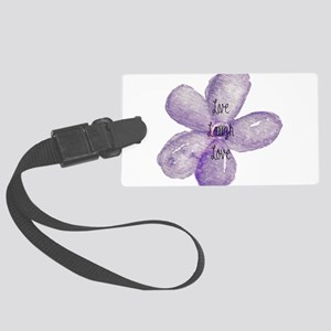 Live, Laugh, Love Watercolor Flower Luggage Tag