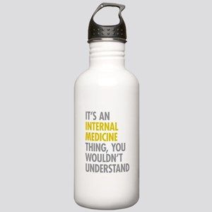 Internal Medicine Thin Stainless Water Bottle 1.0L
