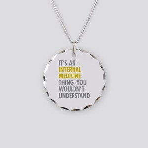 Internal Medicine Thing Necklace Circle Charm