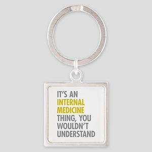 Internal Medicine Thing Square Keychain