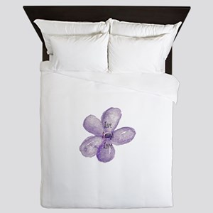 Live, Laugh, Love Watercolor Flower Queen Duvet
