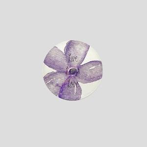 Live, Laugh, Love Watercolor Flower Mini Button