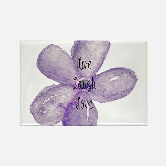 Live, Laugh, Love Watercolor Flower Magnets