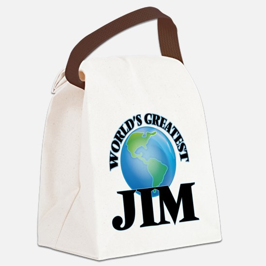 World's Greatest Jim Canvas Lunch Bag