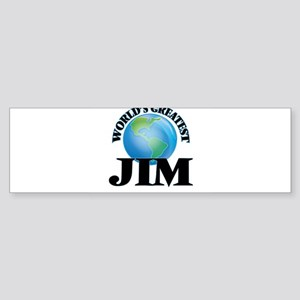 World's Greatest Jim Bumper Sticker