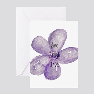Live, Laugh, Love Watercolor Flower Greeting Cards