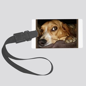 Beagle ~ One Love Large Luggage Tag