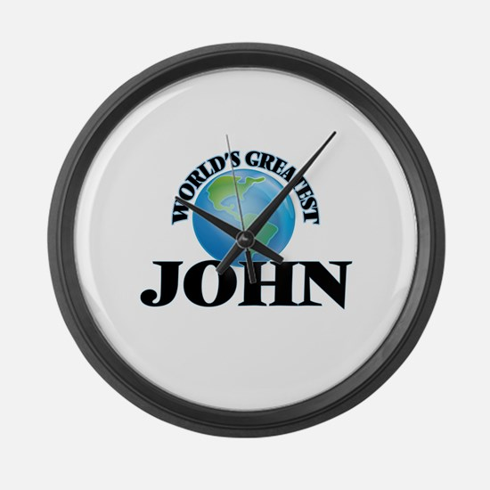 World's Greatest John Large Wall Clock