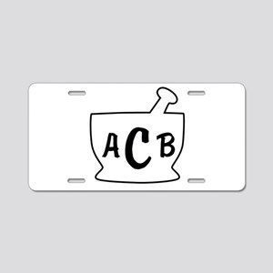Personalized Mortar and Pes Aluminum License Plate