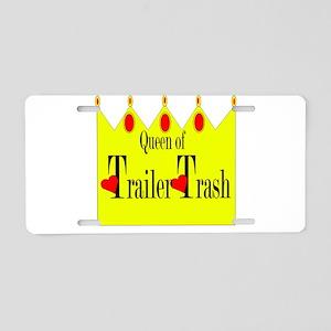 Queen Of Trailer Trash Aluminum License Plate