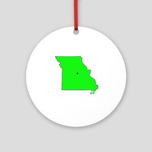 Missouri . . . The Show-Me St Ornament (Round)