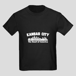 Kansas City . . . The Heart o Kids Dark T-Shirt