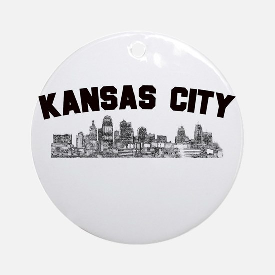 Kansas Cioty Skyline Ornament (Round)